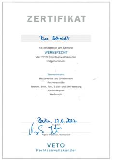zertifikat-veto-rechtsanwaltskanzlei-2019-seminar-werberecht-bild